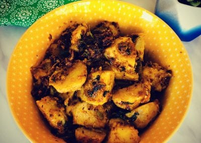 Arbi or Taro Root with Spices