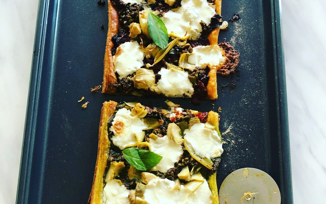 Pesto and Sun-dried Tomato Tart