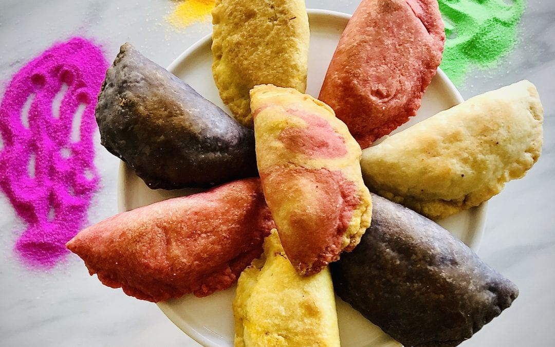 Colorful Baked Gujiya