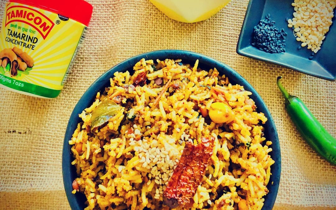 Tamarind Rice or Puliyogare