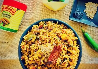 Tamarind Rice or Puliyogare