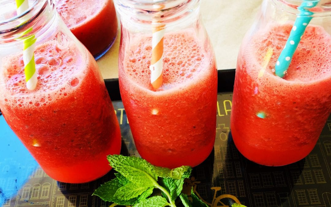 Watermelon Basil Seeds Cooler