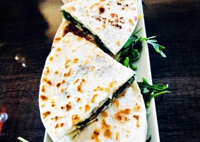 Arugula and Avocado Quesadilla