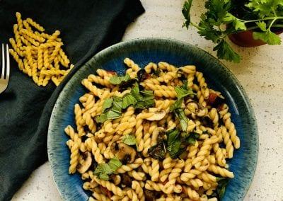 Fusilli with Mushroom and Herbs